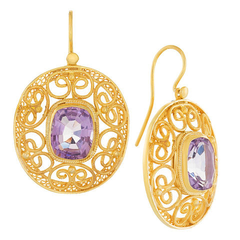 May Morris Amethyst Earrings