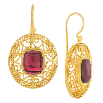May Morris Garnet Earrings