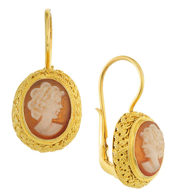 Avonlea Cameo Earrings