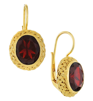 Avonlea Garnet Earrings