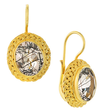Avonlea Tourmalinated Quartz Earrings