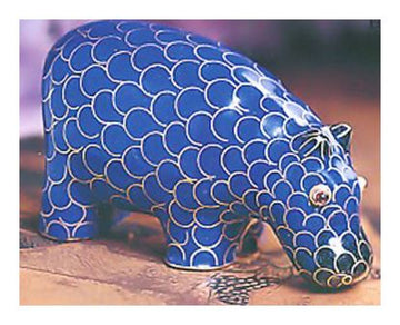 Still Mountain Cloisonne Hippo
