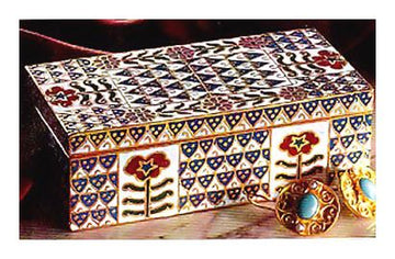 Rosy Blues Cloisonne Box
