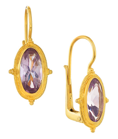 Lewis Carroll Amethyst Earrings