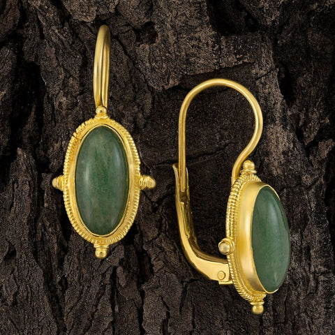 Lewis Carroll Aventurine Earrings
