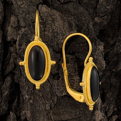 Lewis Carroll Onyx Earrings