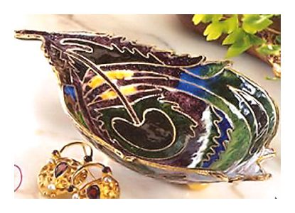 Peacock Feather Dish