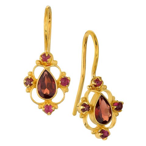 Daphne Dearheart Garnet Earrings