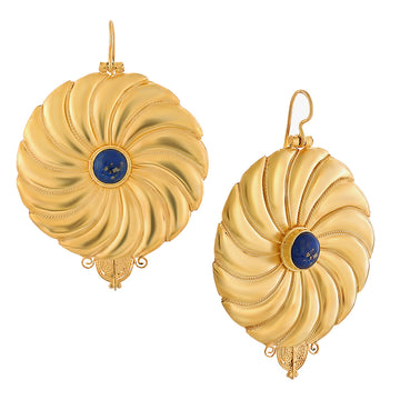 Asante-Sunburst Lapis Lazuli Earrings