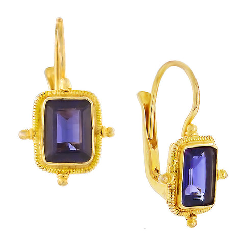 Olympian Iolite Earrings