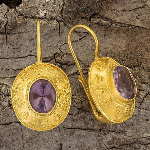 Mogul Amethyst Earrings