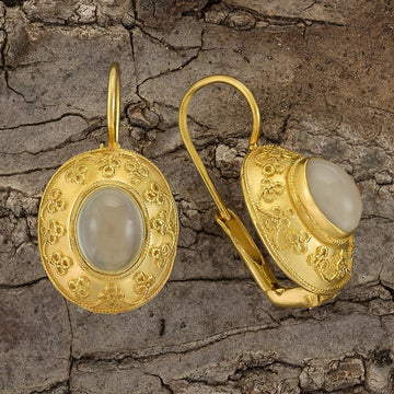 Mogul Moonstone Earrings