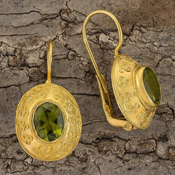 Mogul Peridot Earrings