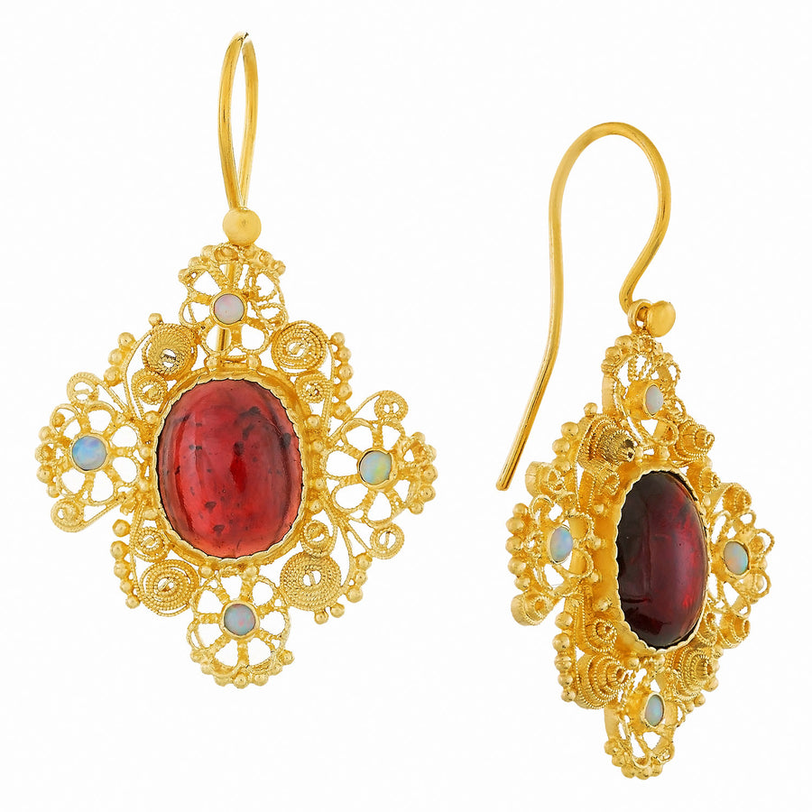 Marquessa Of Rockingham Garnet Earrings