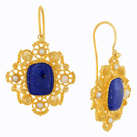 Marquessa Of Rockingham Lapis Earrings