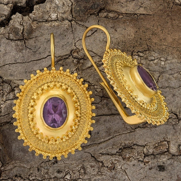 Afghani Amethyst Earrings