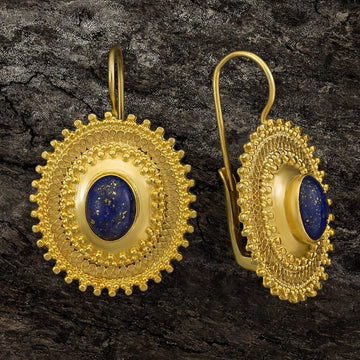 Afghani Lapis Earrings