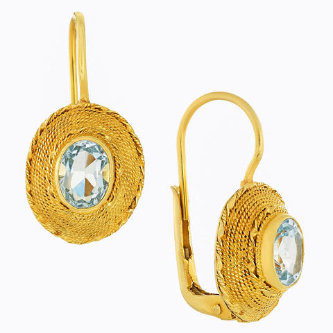 Greco-Roman Blue Topaz Earrings