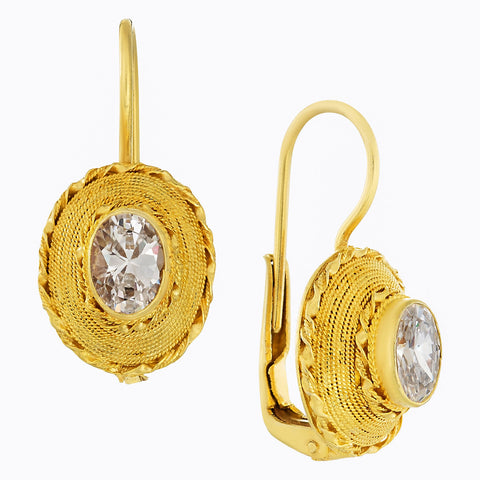 Greco-Roman Cubic Zirconia Earrings