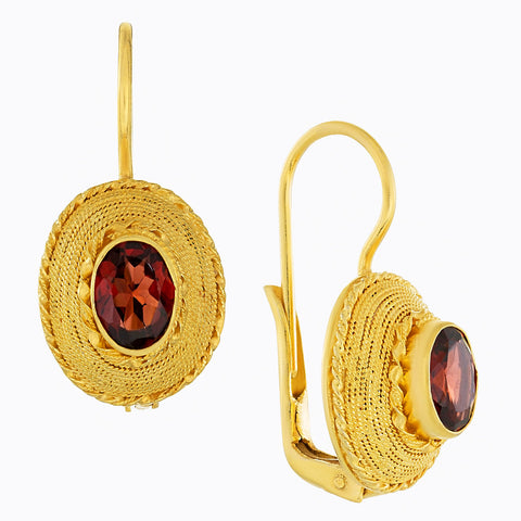Greco-Roman Garnet Earrings