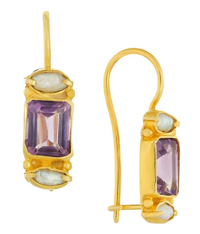 Dorset Amethyst & Pearl Earrings