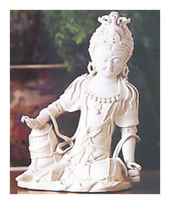 Seated Kuan Yin Porcelain Statue