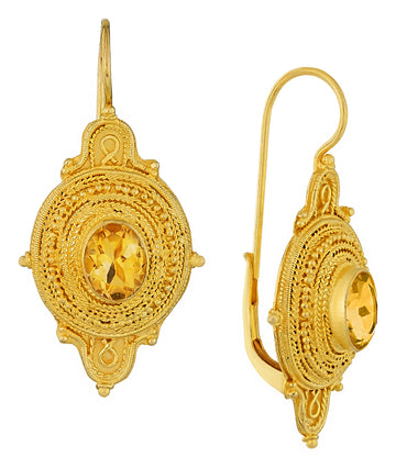 Northumbrian Citrine Earrings