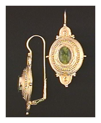 Northumbrian Peridot Earrings