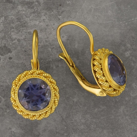 Iolite Love Knot Earrings