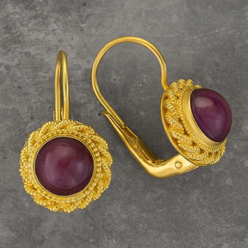 Ruby Love Knot Earrings