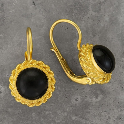 Onyx Love Knot Earrings