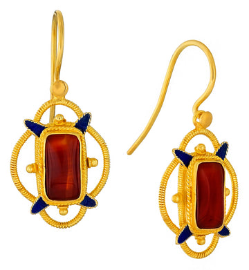 Princess Dashkova Carnelian Earrings