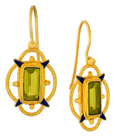 Princess Dashkova Peridot Earrings
