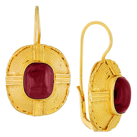Lacksley Hall Garnet Earrings