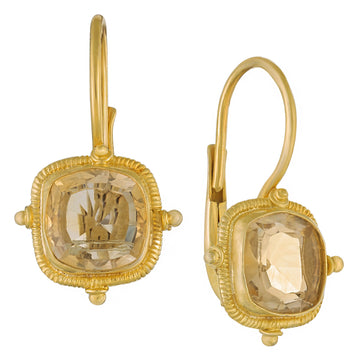 Priestess of Vesta Citrine Earrings