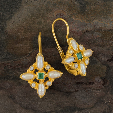 Florentine Cross Spring Earrings