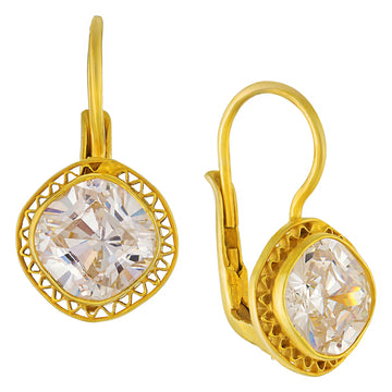 Victoria Square Cubic Zirconia Earrings