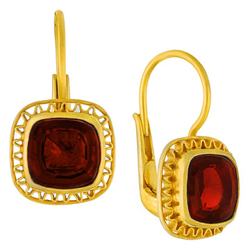 Victoria Square Garnet Earrings