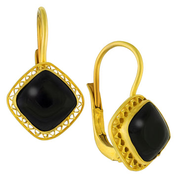 Victoria Square Onyx Earrings