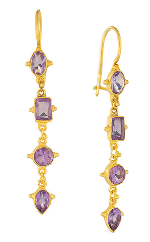 Tess of The D'urbervilles Amethyst Earrings
