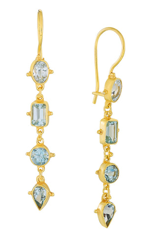 Tess of The D'urbervilles Blue Topaz Earrings