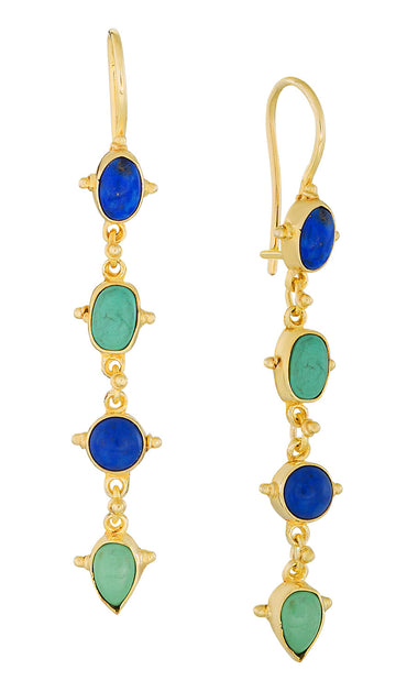 Tess of The D'urbervilles Lapis and Turquoise Earrings