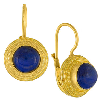 Discus Lapis Lazuli Earrings
