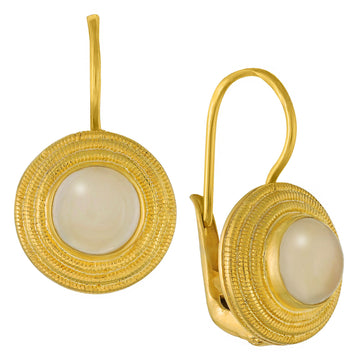 Discus Moonstone Earrings