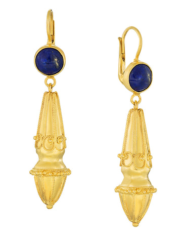 Augustan Lapis Victorian Earrings