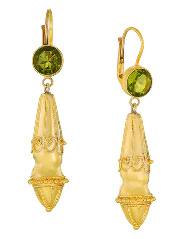 Augustan Peridot Victorian Earrings