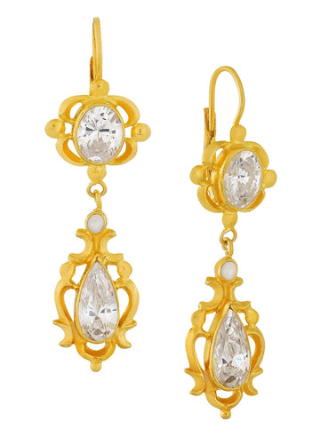 Bloomsbury Cubic Zirconia and Pearl Earrings