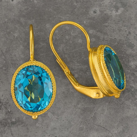 Maharashtra Blue Topaz Earrings