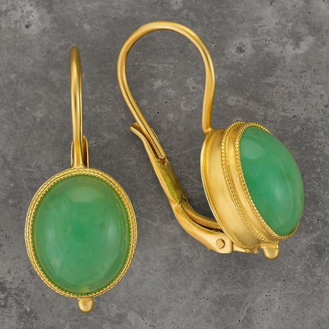 Maharashtra Chrysoprase Earrings