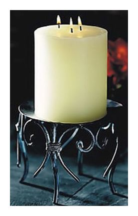 Sunrise Holiday Short Column Candle and Stand